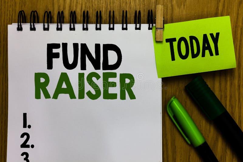 Fond för textteckenvisning - raiser Begreppsmässig fotoperson vars jobb eller uppgift är sökandeekonomisk hjälp för välgörenhetan royaltyfri foto