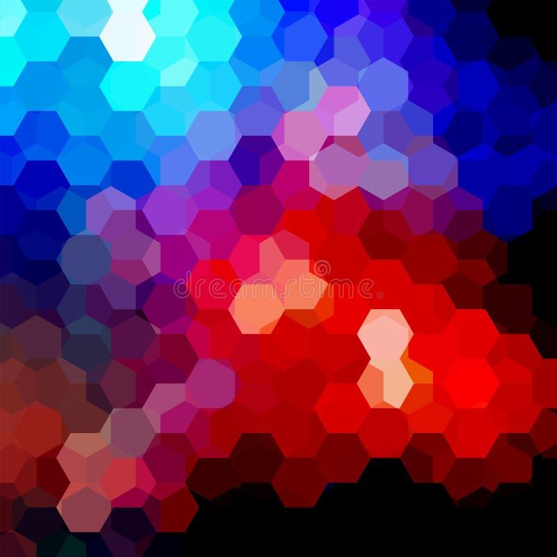 Fond fait d'hexagones Composition carrée avec géométrique illustration stock