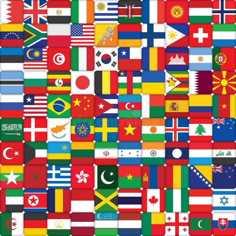 Fond fait d'icônes de drapeau illustration libre de droits