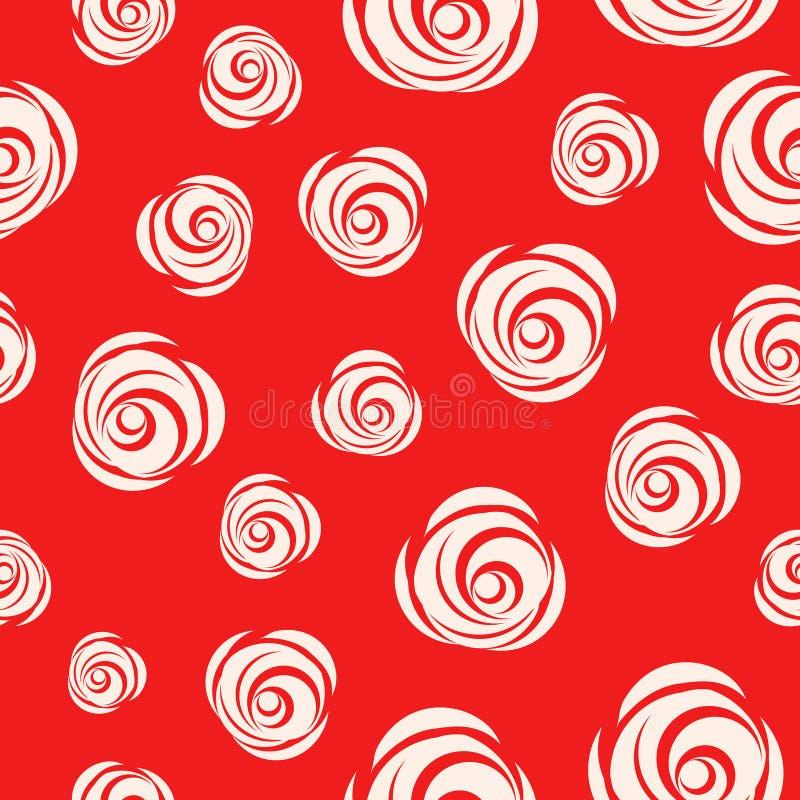 Fond fait une boucle par vecteur rouge avec des roses illustration libre de droits