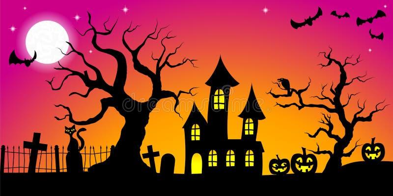 Fond fantasmagorique de Halloween illustration libre de droits