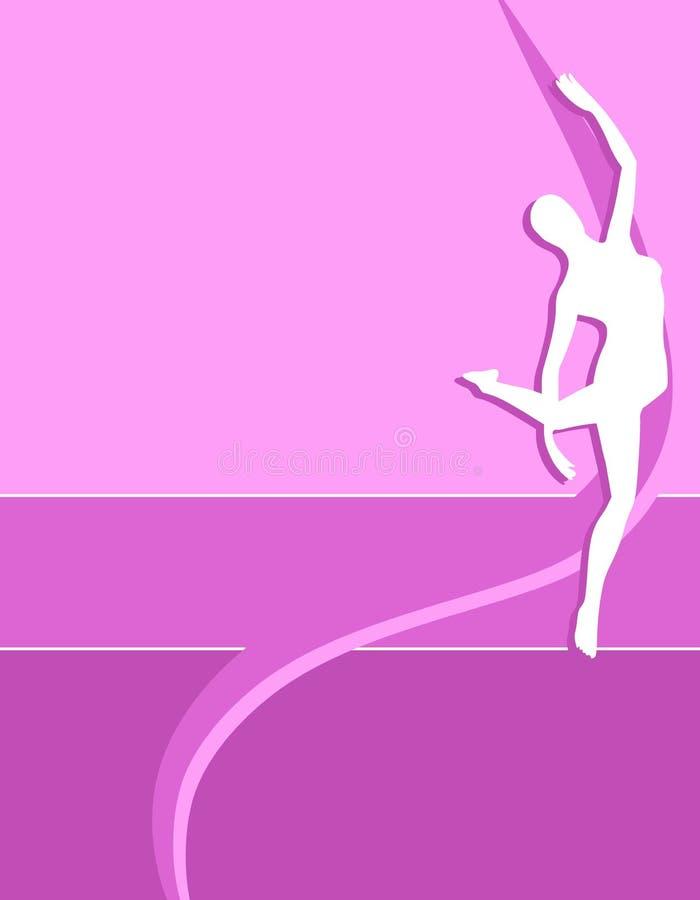 Fond femelle 2. de silhouette de forme physique. illustration libre de droits