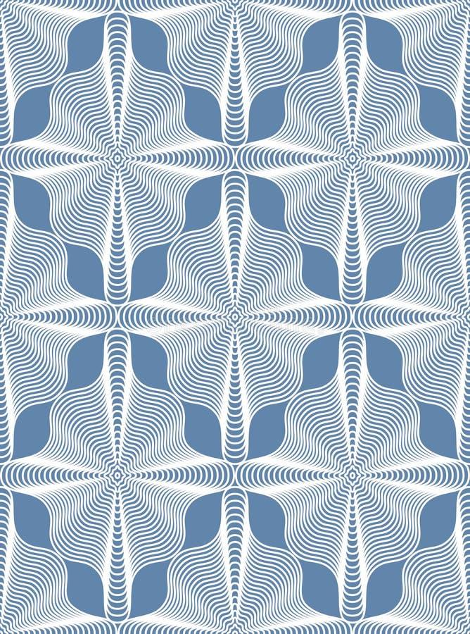 Fond fleuri d'abrégé sur vecteur avec les lignes blanches De symétrique illustration de vecteur