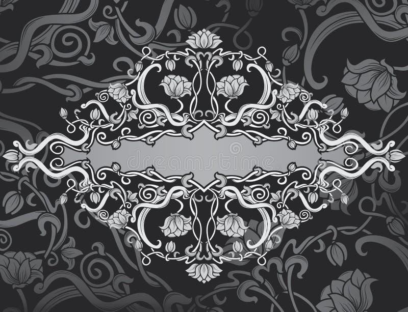 Fond fleuri de trame de renaissance illustration stock
