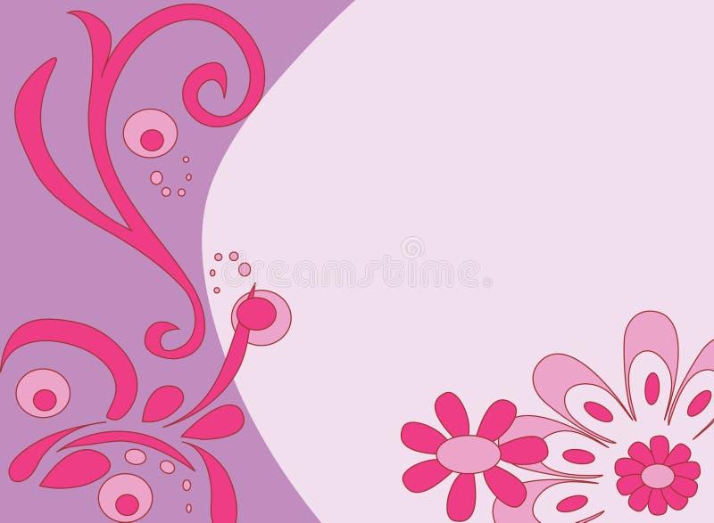 Fond fleuri rose illustration libre de droits