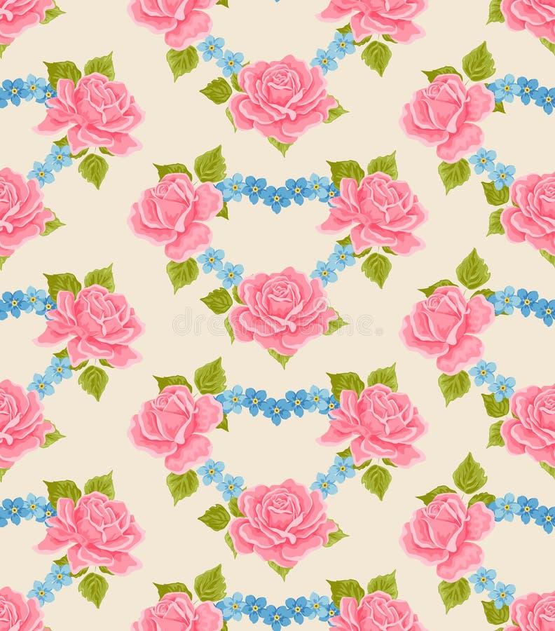 fond fleuri sans joint de papier peint illustration de vecteur illustration du lame fleur. Black Bedroom Furniture Sets. Home Design Ideas
