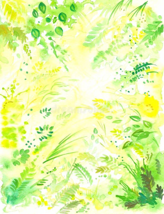 Fond floral 1 illustration de vecteur