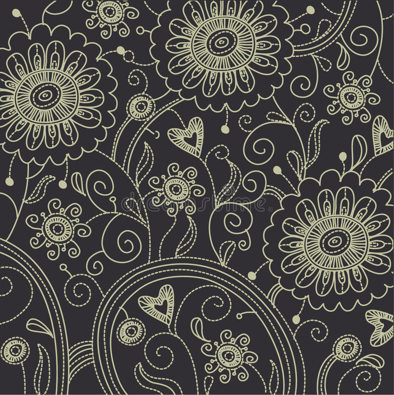 Fond floral illustration de vecteur
