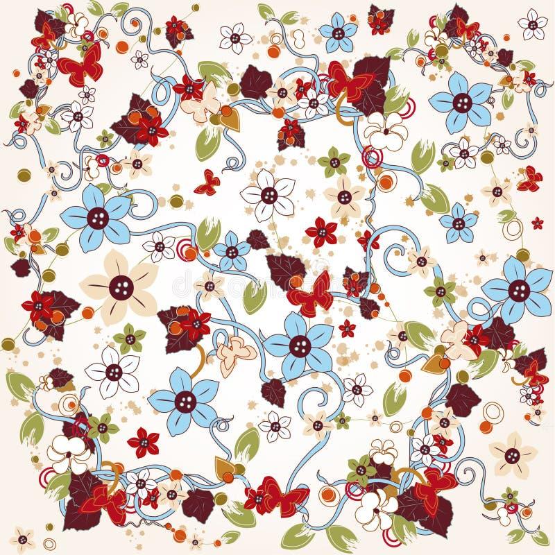 Fond floral illustration stock