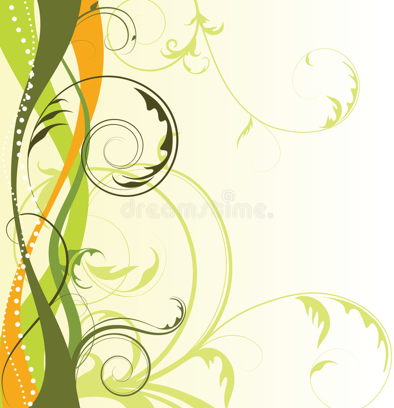 Fond floral abstrait avec l'espace libre votre te illustration stock