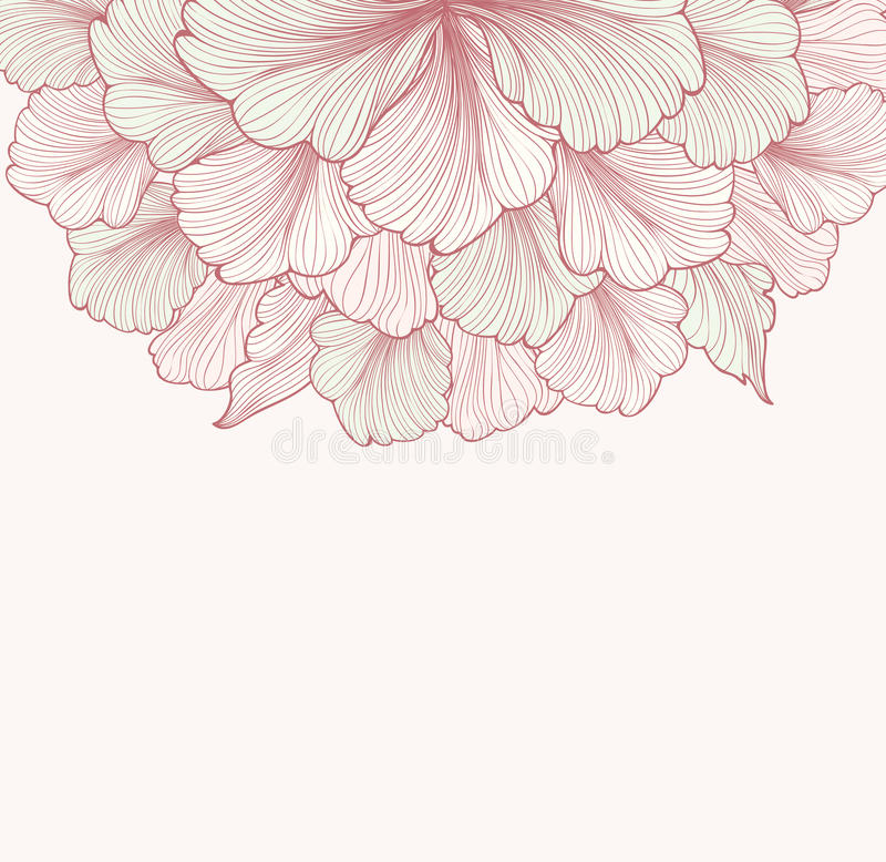 Fond floral abstrait avec la fleur Frontière d doux de Flourish illustration libre de droits