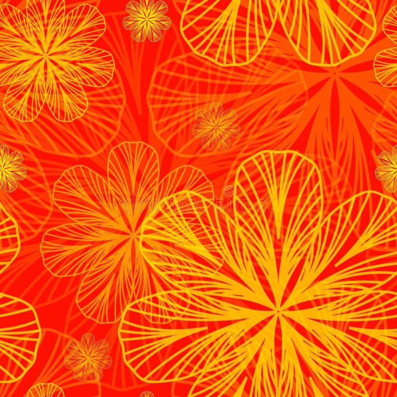 Fond floral abstrait d'automne illustration libre de droits