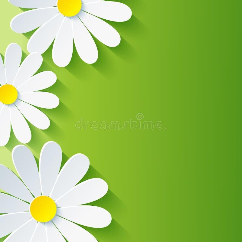 Fond floral abstrait de ressort, chamo de la fleur 3d illustration libre de droits