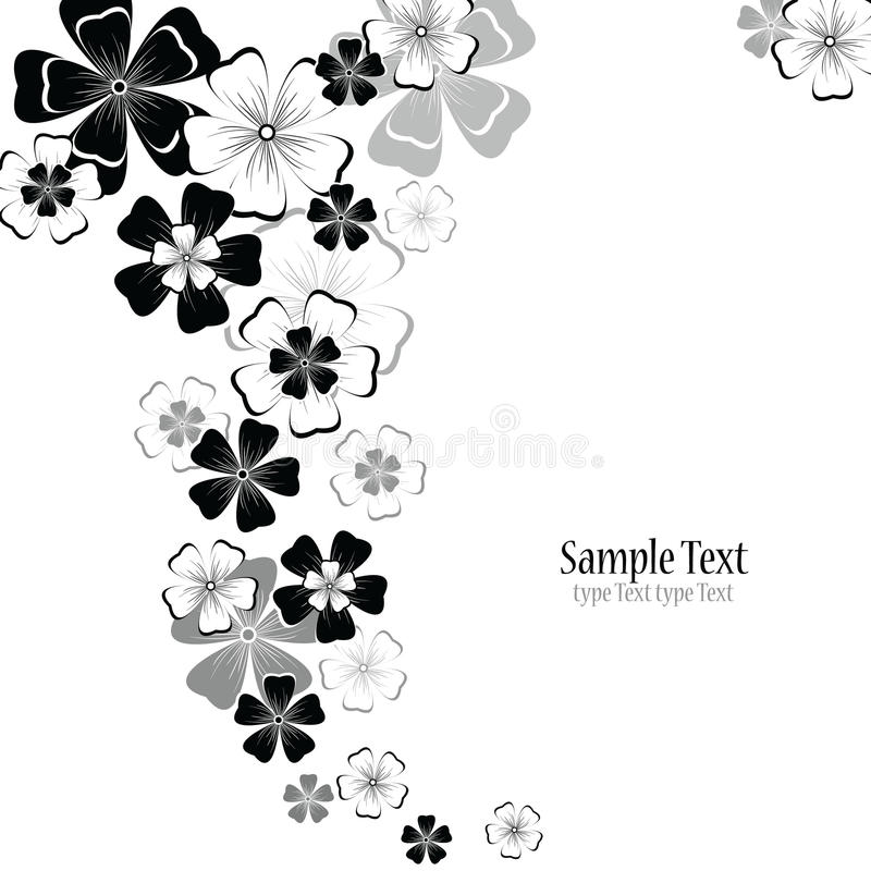 Fond floral abstrait de vecteur illustration stock
