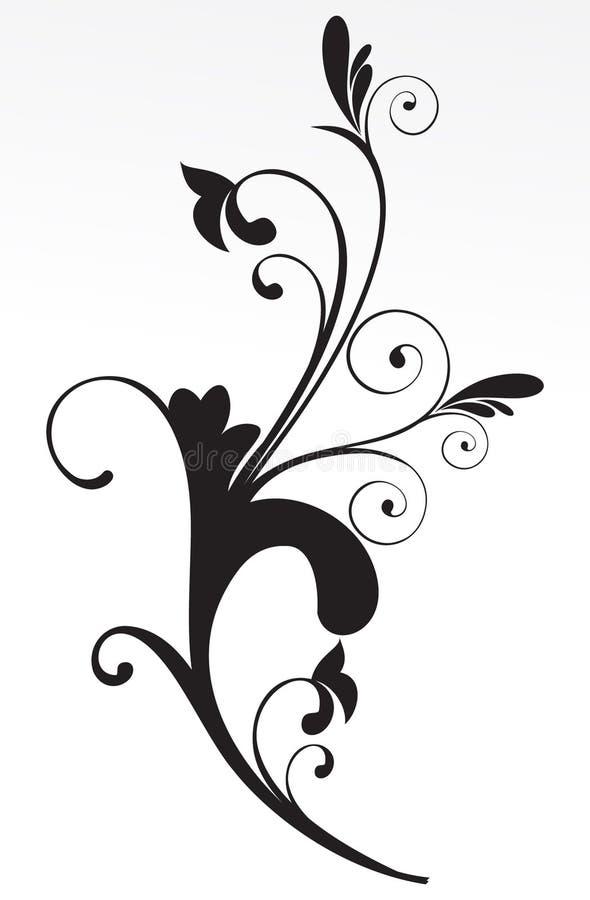 Fond floral abstrait noir et blanc illustration libre de droits