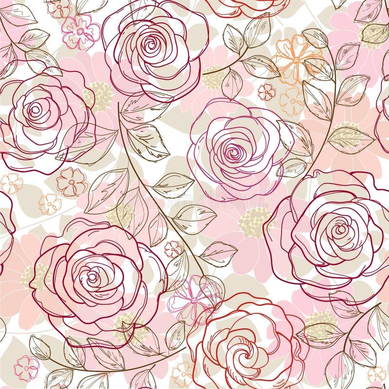 Fond floral sans couture illustration de vecteur