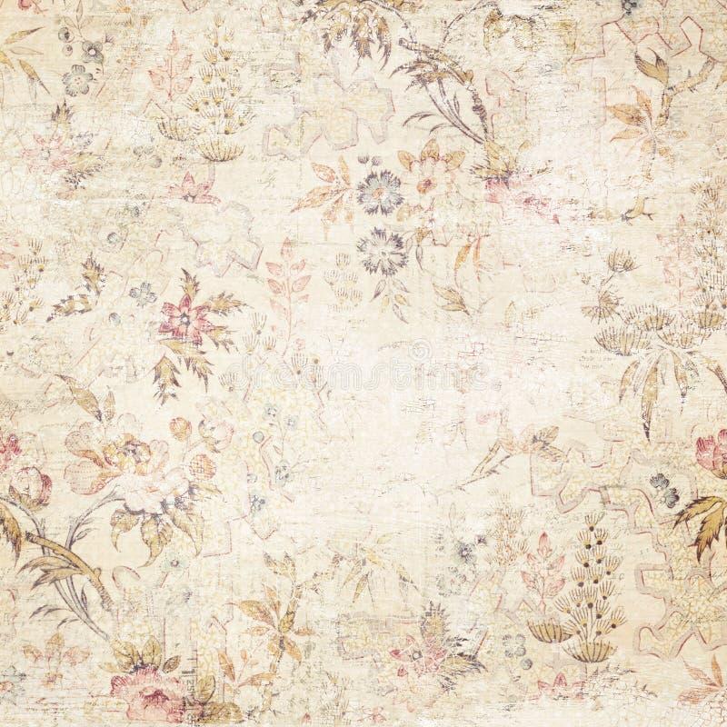 Fond floral affligé par vintage images stock