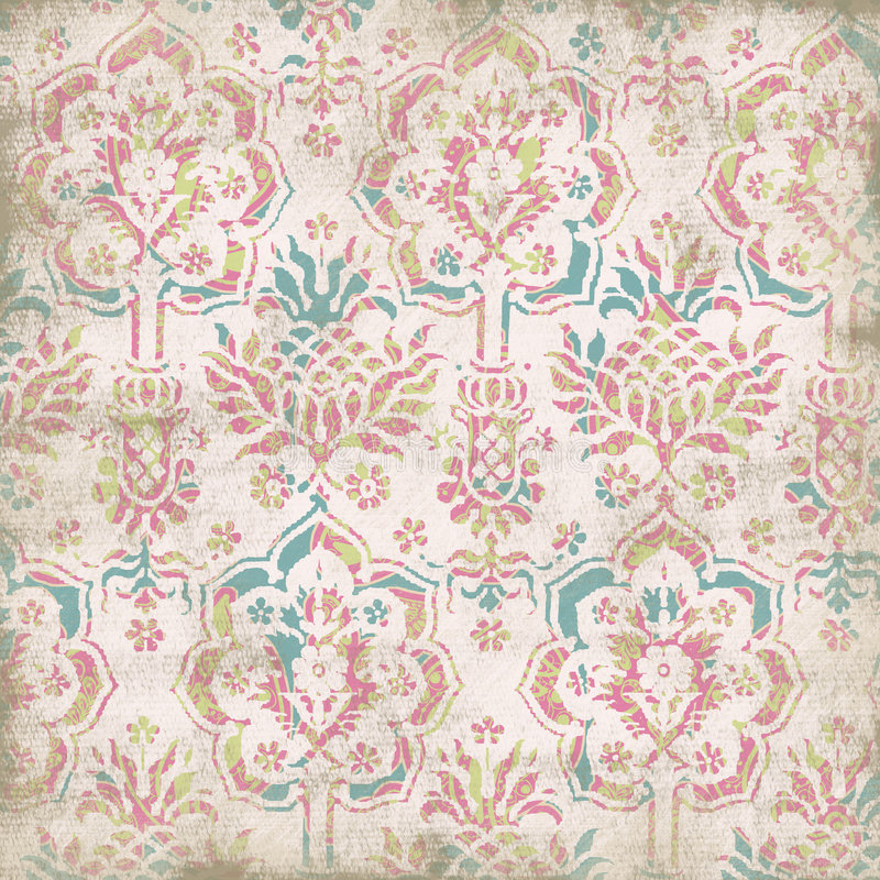 Fond floral antique illustration stock