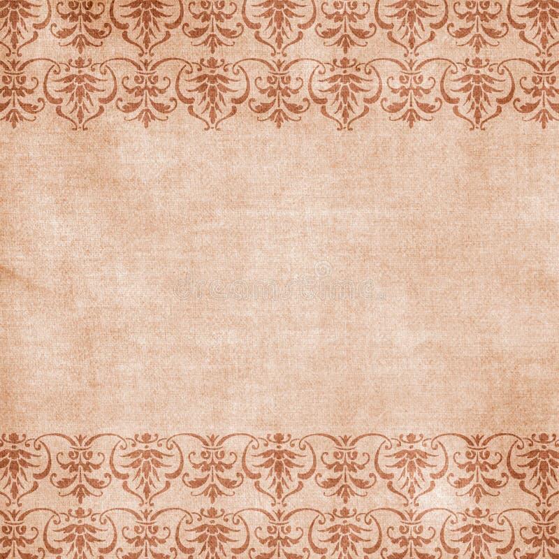 Fond floral antique de damassé illustration libre de droits