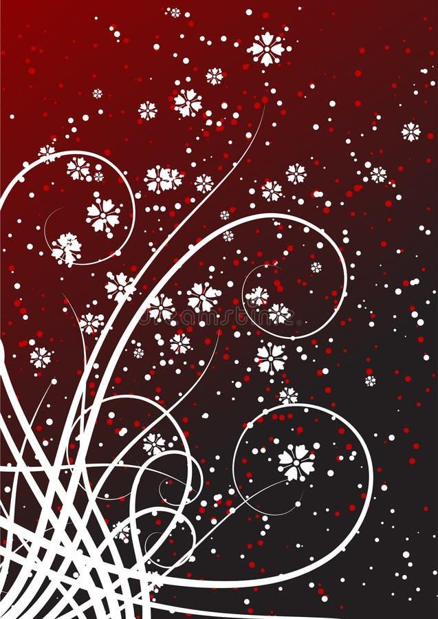 Fond floral avec des défilements et des points illustration stock