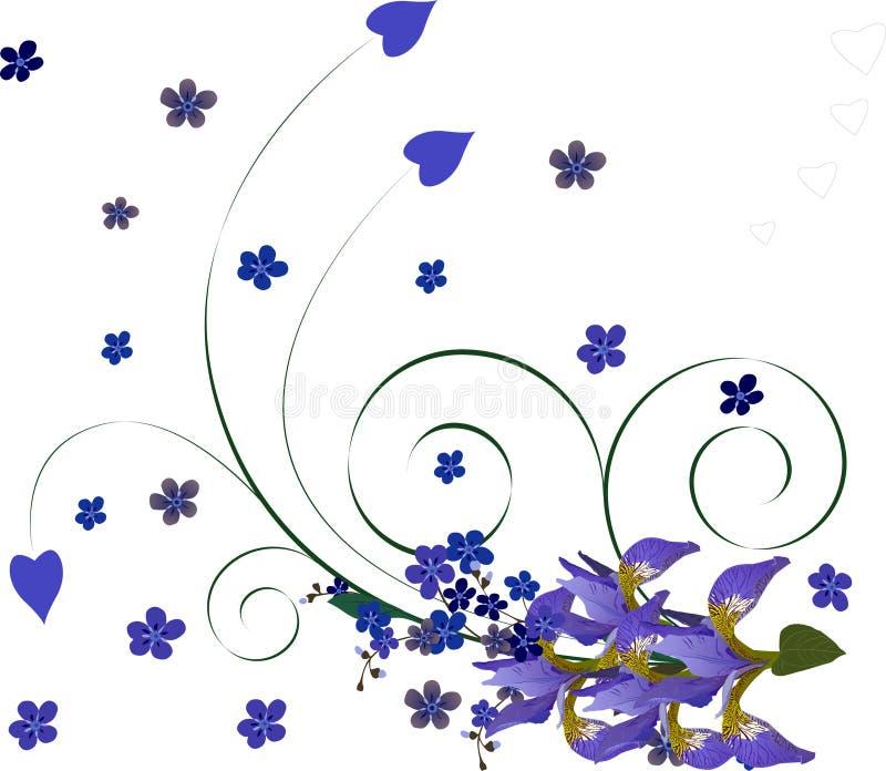 Fond floral avec l'iris illustration libre de droits