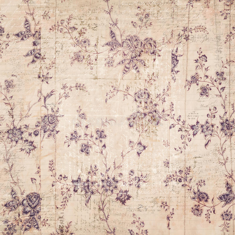 Fond floral avec le texte photo stock