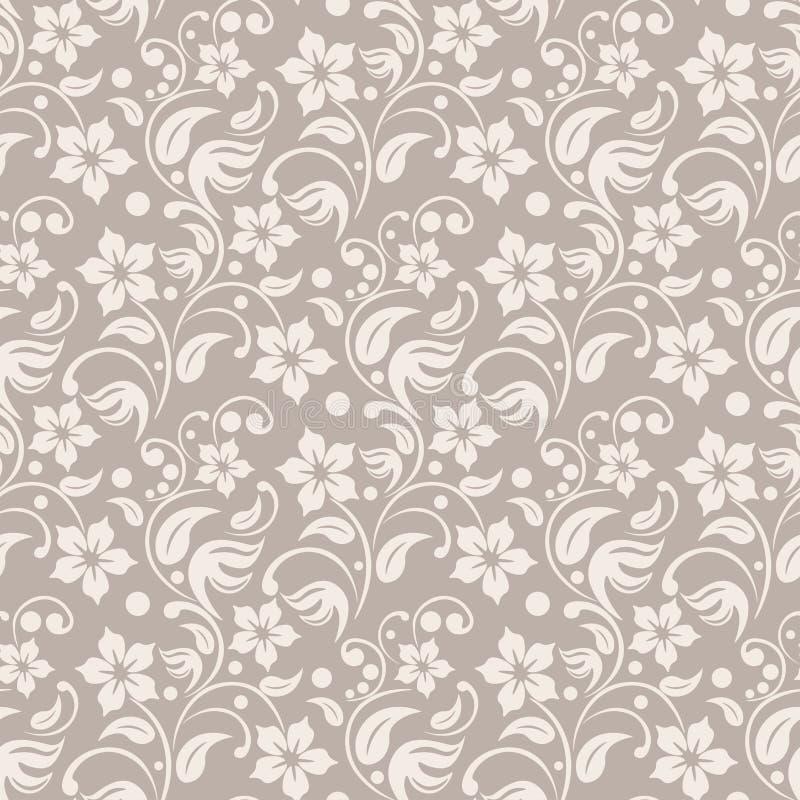 Download Fond floral beige illustration de vecteur. Illustration du antiquité - 76075034