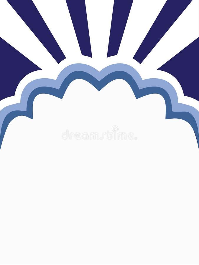 Fond floral blanc bleu illustration libre de droits