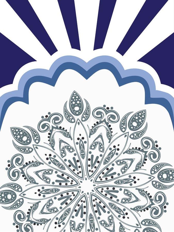 Fond floral blanc bleu illustration de vecteur
