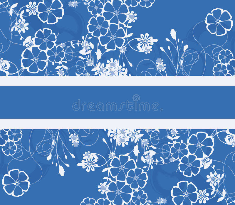 Fond floral bleu illustration de vecteur