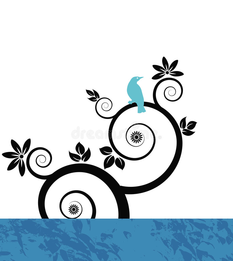 Fond floral bleu illustration stock