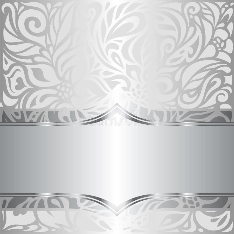Fond floral brillant argent de papier peint de mod le de for Modele de papier peint