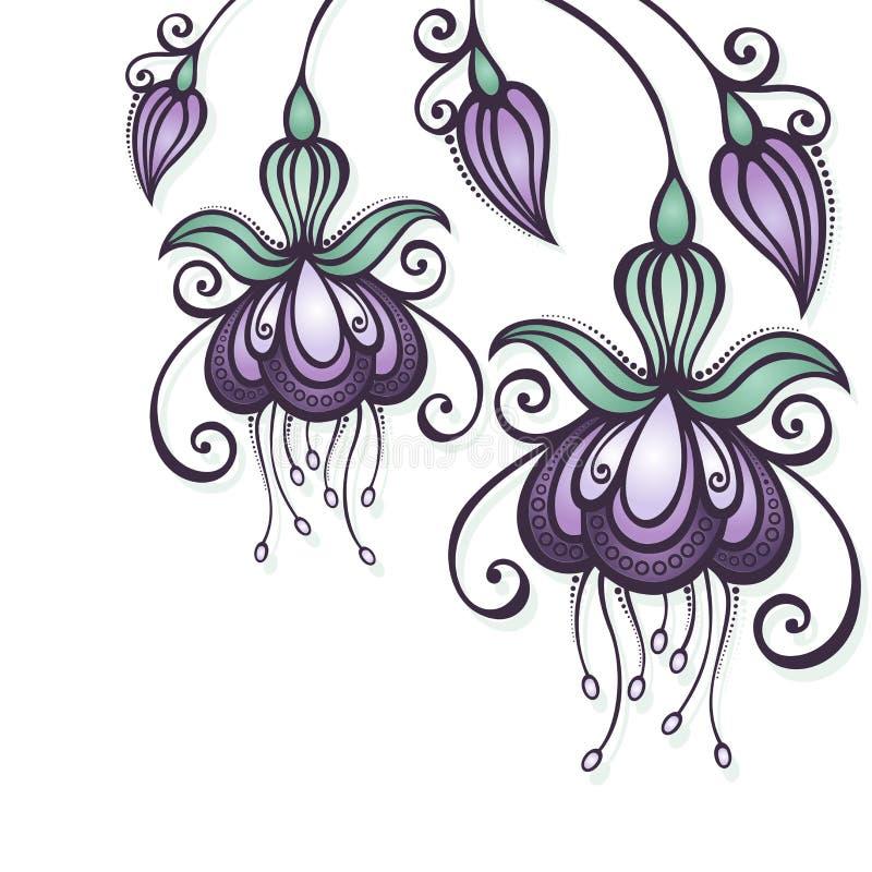 Fond floral coloré par vecteur illustration de vecteur