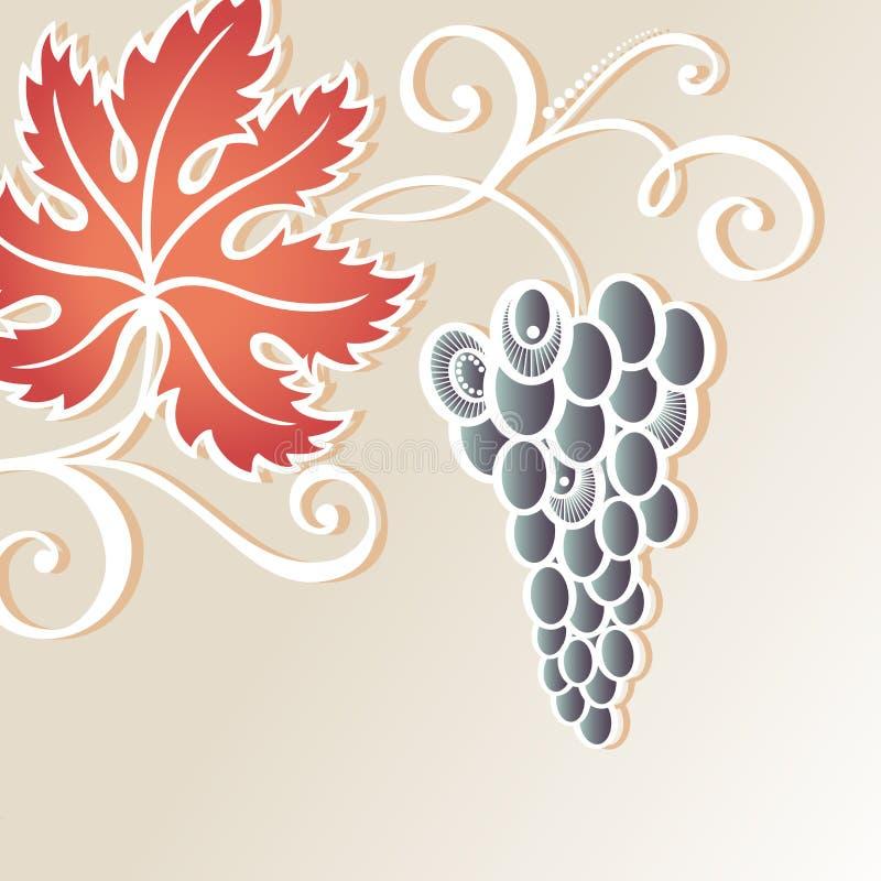 Fond floral coloré par vecteur avec du raisin illustration libre de droits