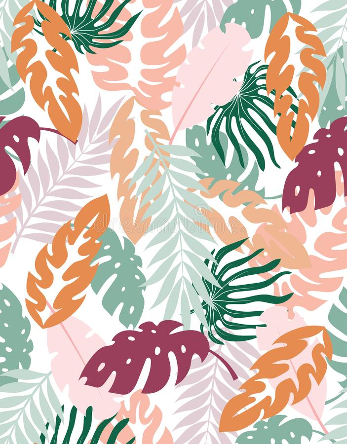 Fond floral cr?atif tropical illustration stock