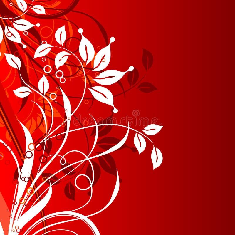 Fond floral décoratif,   illustration de vecteur