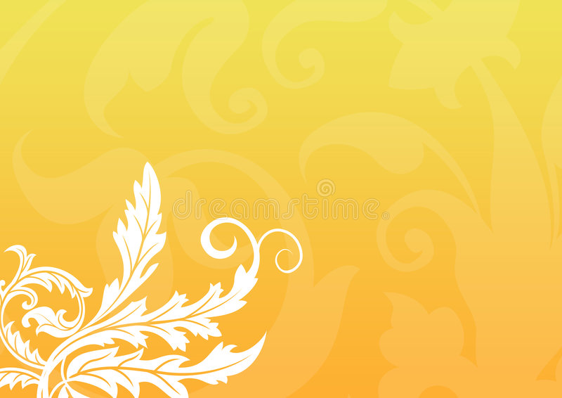 Fond floral d'or illustration libre de droits