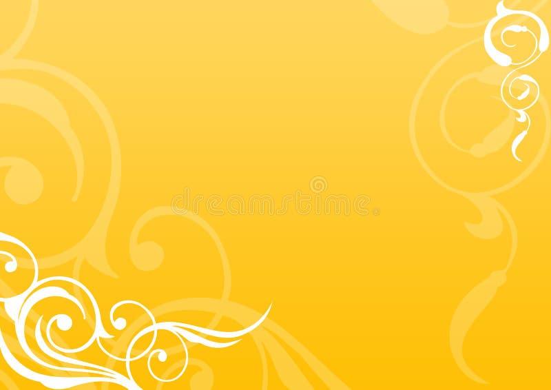 Fond floral d'or illustration de vecteur
