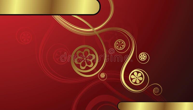 Fond floral d'or illustration stock