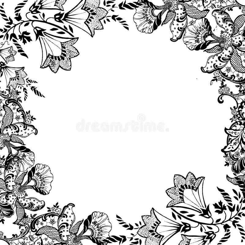 Fond floral d'album à cru illustration de vecteur