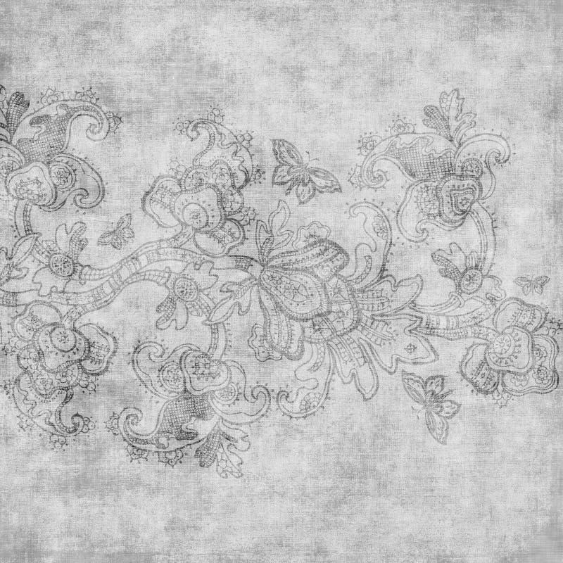 Fond floral d'album à damassé de cru sale illustration de vecteur