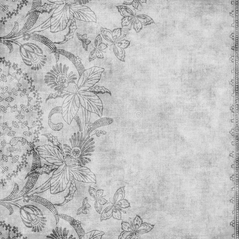 Fond floral d'album à damassé de cru sale illustration libre de droits