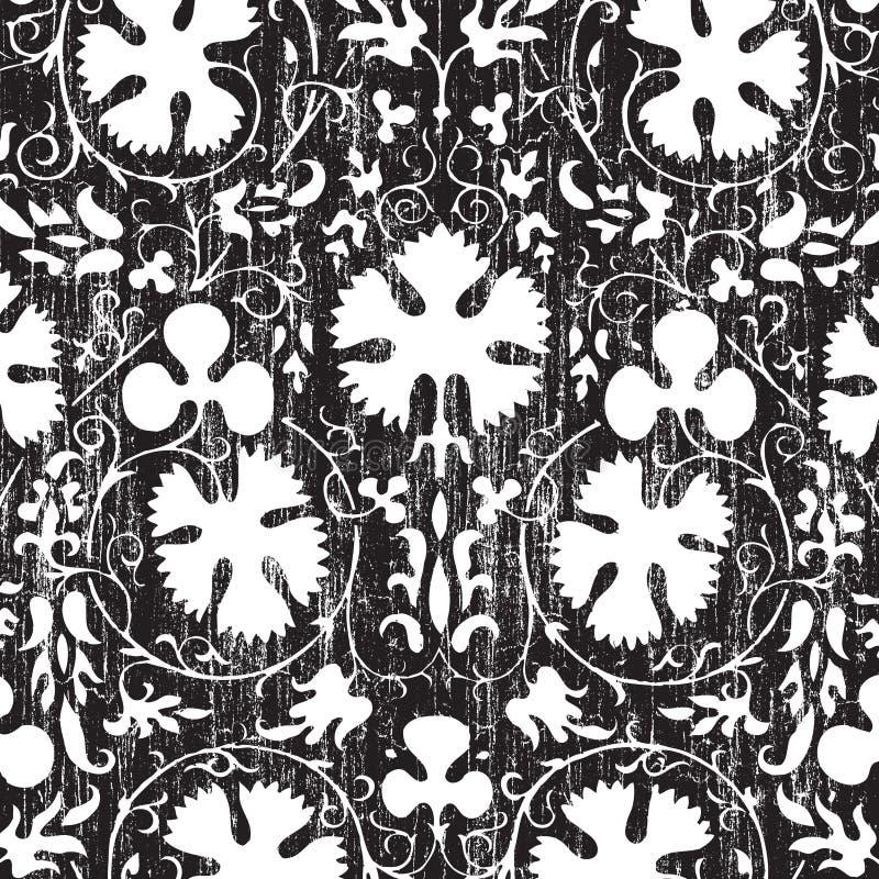 Fond floral d'album à damassé de cru sale illustration stock