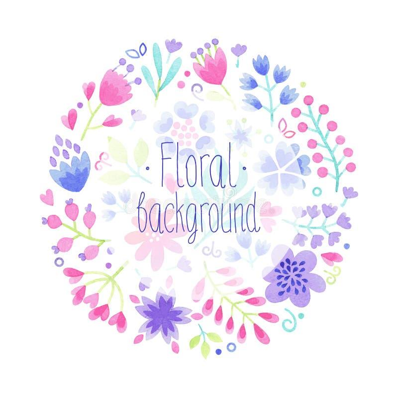 Fond floral d'aquarelle de vecteur illustration de vecteur