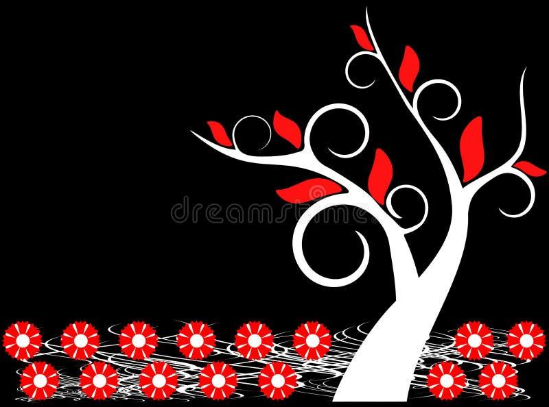 Fond floral d'arbre illustration libre de droits