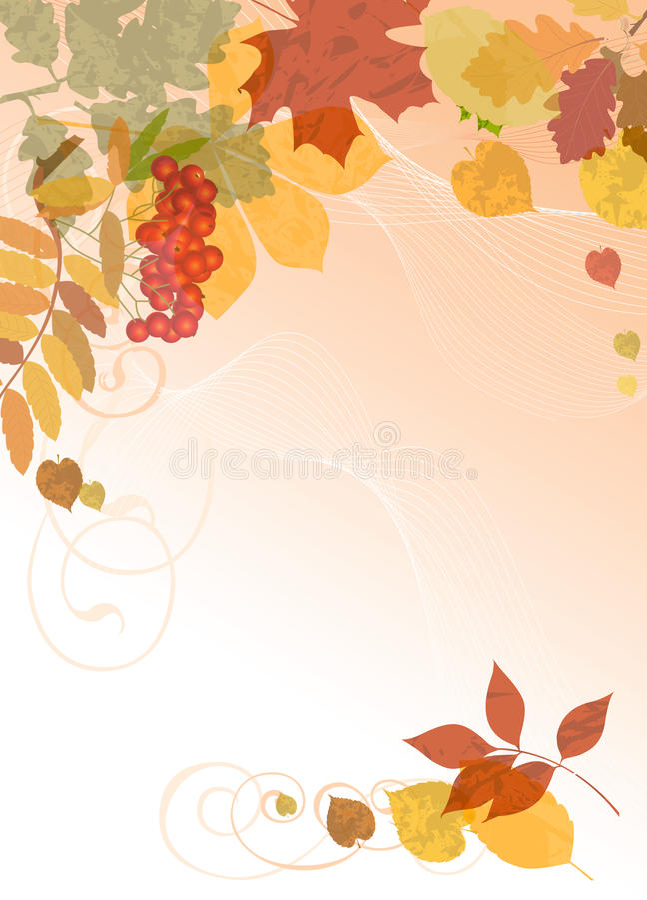 Fond floral d'automne. illustration stock