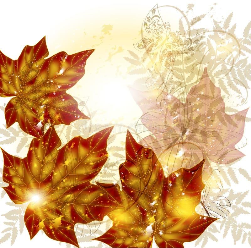 Fond floral d'automne avec l'espace illustration libre de droits