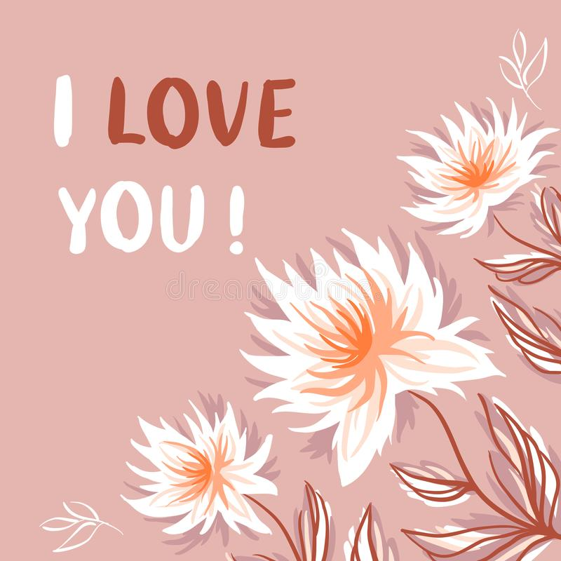Fond floral d?coratif illustration stock