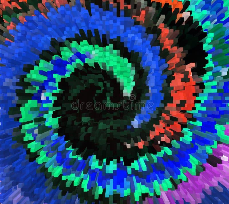 Fond floral d'extrusion de couleur, abstractions lumineuses de couleur, blocs d'extrusion et pyramides Explosion colorée abstrait illustration de vecteur
