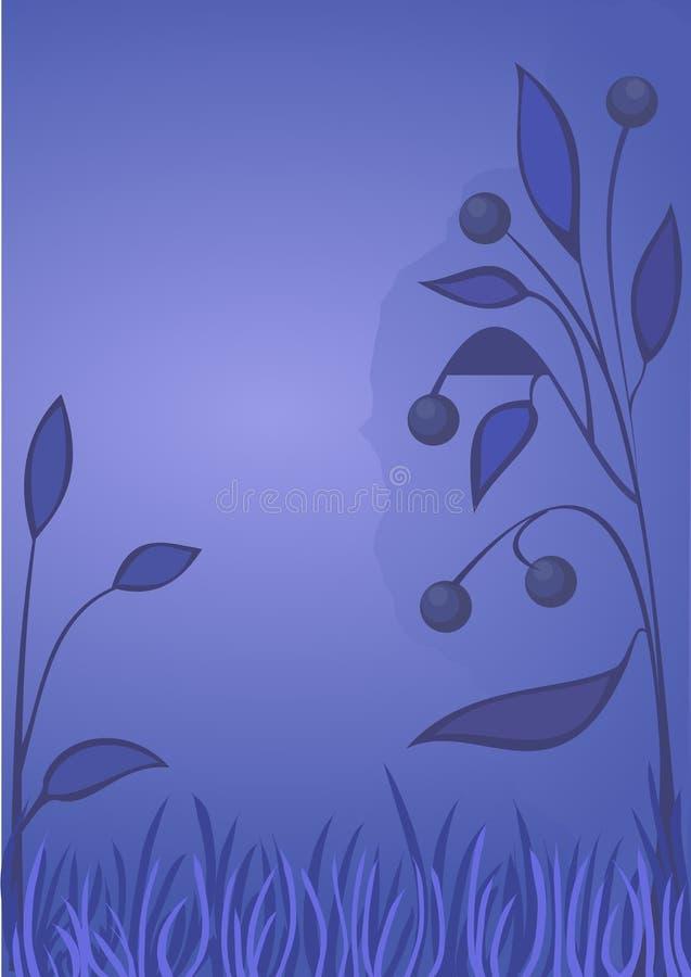 Fond floral de Bluberry illustration de vecteur